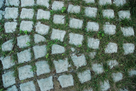 Ground with disrupted grid